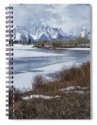 Grand Tetons From Oxbow Bend Spiral Notebook