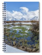 Grand Tetons From Willow Flats In Early April Spiral Notebook