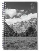Grand Tetons In Black And White Spiral Notebook