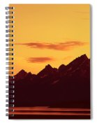 Grand Tetons Sunset Spiral Notebook