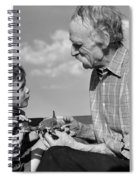 Grandfather And Boy With Model Plane Spiral Notebook