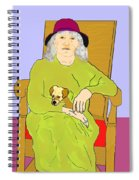 Grandma And Puppy Spiral Notebook