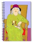 Grandma And Puppy Spiral Notebook