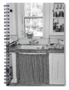 Grandma's Kitchen B W Spiral Notebook