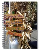 Grandma's Place Get Spoiled Here Spiral Notebook