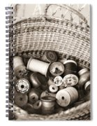 Grandma's Sewing Basket Spiral Notebook