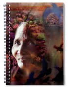 Grandmother Crow Spiral Notebook