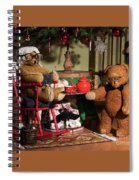 Grandpa And Grandma Teddy Bears' Christmas Eve Spiral Notebook