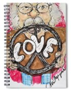 Grandpa Hippie Spiral Notebook