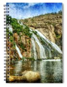 Granite Mountain Waterfall - Vintage Version Spiral Notebook