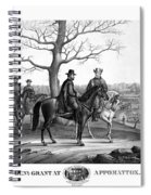Grant And Lee At Appomattox Spiral Notebook