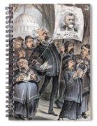 Grant Cartoon, 1880 Spiral Notebook