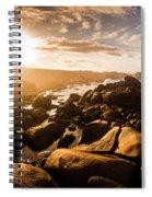 Granville Harbour Tasmania Sunrise Spiral Notebook
