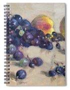 Grape And Peach Spiral Notebook
