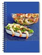 Grapefruit And Shrimp Salad Spiral Notebook