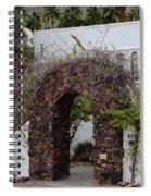 Grapevine Covered Stone Garden Door Spiral Notebook