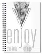 Graphic Art Enjoy The Little Things - Silver Spiral Notebook