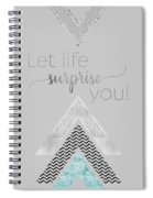 Graphic Art Let Life Surprise You - Mint Spiral Notebook
