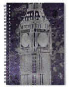 Graphic Art London Big Ben - Ultraviolet And Silver Spiral Notebook