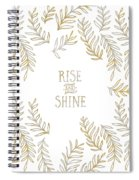 Graphic Art Rise And Shine - Gold And Marble Spiral Notebook