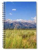 Grass In The Wind Spiral Notebook