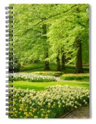 Grass Lawn With Daffodils  Spiral Notebook