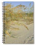 Grass On The Beach Sand Spiral Notebook
