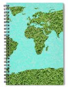Grass World Map Spiral Notebook
