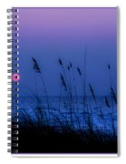 Grasses Frame The Setting Sun In Florida Spiral Notebook