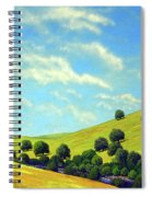 Grassy Hills At Meadow Creek Spiral Notebook