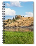 Grassy Shore Of Willow Lake Spiral Notebook