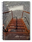 Gravel Pit Grinder Rusty Staircase Spiral Notebook