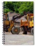 Gravel Pit Loader And Dump Truck 01 Spiral Notebook