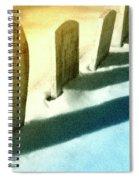 Gravestones In Winter Spiral Notebook