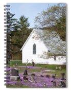 Graveyard Phlox Country Church Spiral Notebook