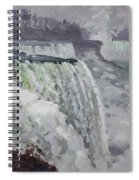 Gray And Cold At American Falls Spiral Notebook