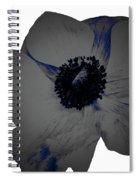 Gray Blue Poppy Spiral Notebook