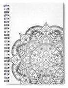 Gray Mandala Spiral Notebook