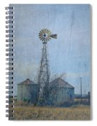 Gray Windmill 2 Spiral Notebook