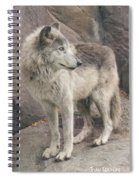 Gray Wolf Profile Spiral Notebook