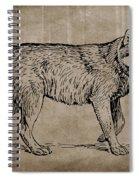 Gray Wolf Timber Wolf Western Wolf Woods Texture Spiral Notebook
