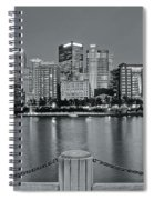 Grayscale By The River 2017 Spiral Notebook