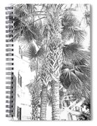 Grayscale Palm Trees Pen And Ink Spiral Notebook