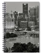 Grayscale Pittsburgh Spiral Notebook