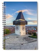 Graz Sunset Panorama Spiral Notebook