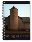 Grazing At Dawn Spiral Notebook
