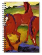 Grazing Horses Iv The Red Horses 1911 Spiral Notebook