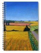 Great Bedwyn Wheat Fields Painting Spiral Notebook