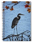 Great Blue Heron At Shores Of King's Mountain Point Spiral Notebook