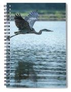 Great Blue Heron Flying Spiral Notebook